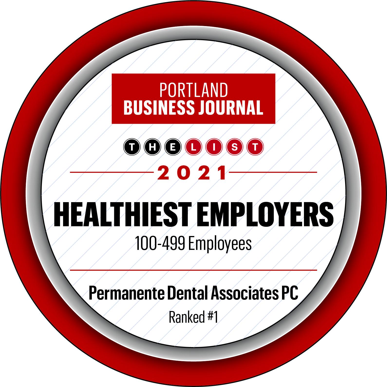 #1 Heathiest Employer